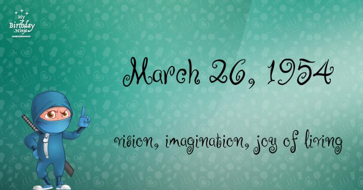 March 26, 1954 Birthday Ninja