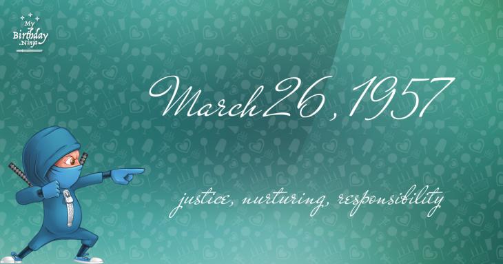 March 26, 1957 Birthday Ninja