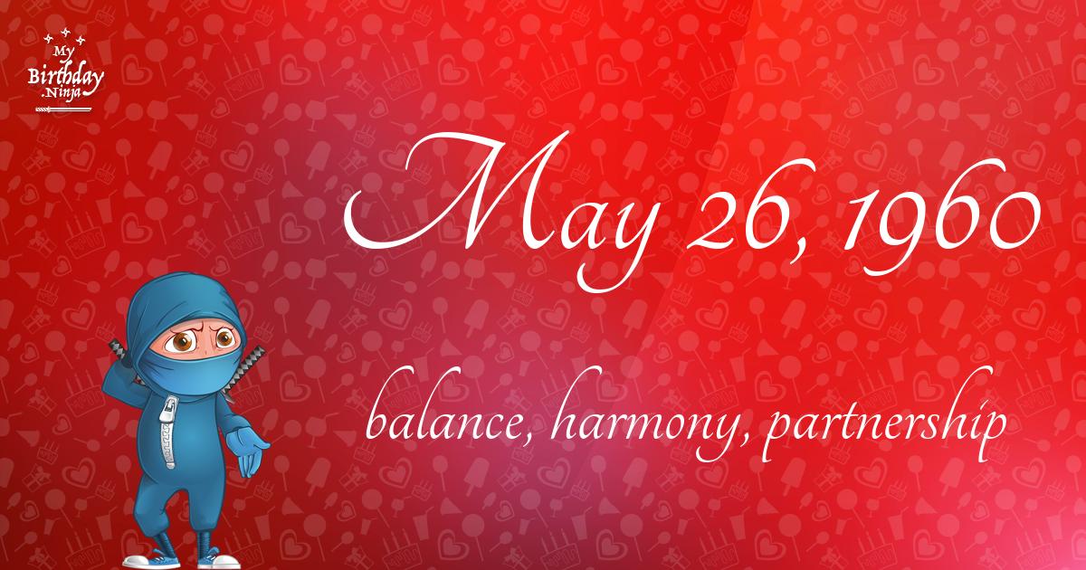 May 26, 1960 Birthday Ninja Poster