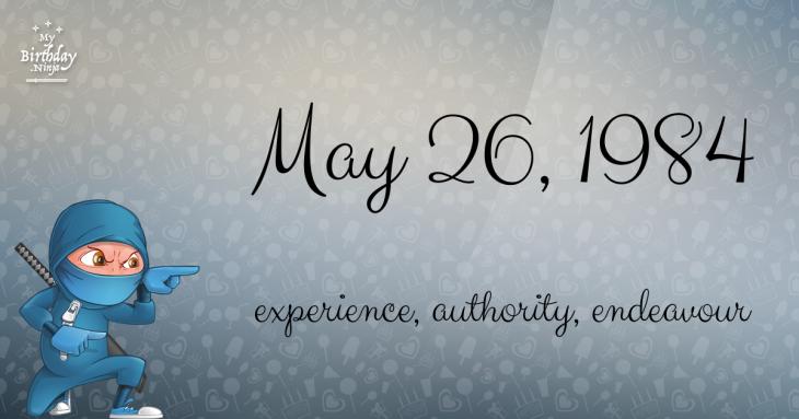 May 26, 1984 Birthday Ninja
