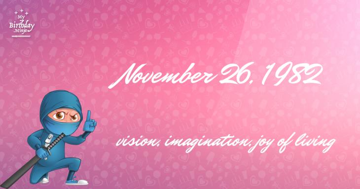 November 26, 1982 Birthday Ninja