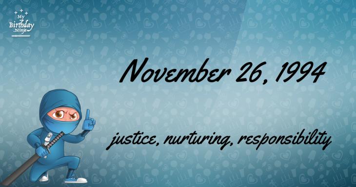 November 26, 1994 Birthday Ninja