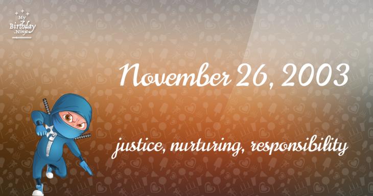 November 26, 2003 Birthday Ninja