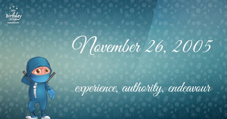November 26, 2005 Birthday Ninja
