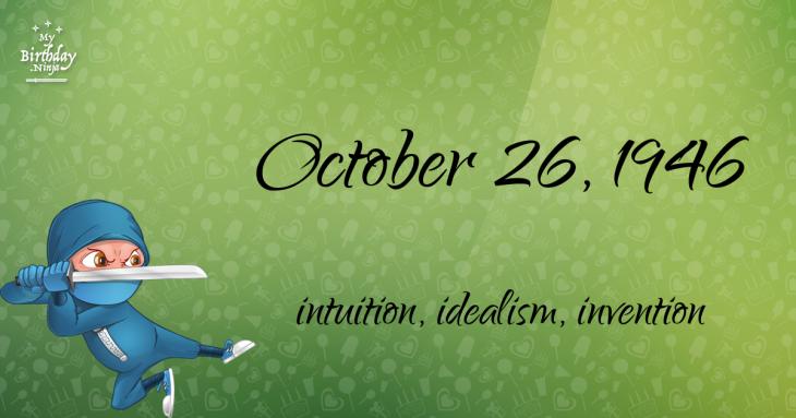October 26, 1946 Birthday Ninja