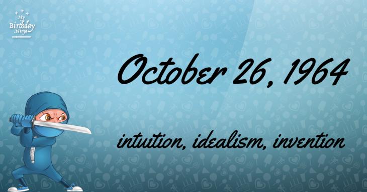 October 26, 1964 Birthday Ninja