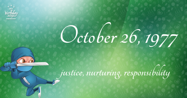 October 26, 1977 Birthday Ninja