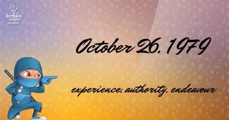 October 26, 1979 Birthday Ninja