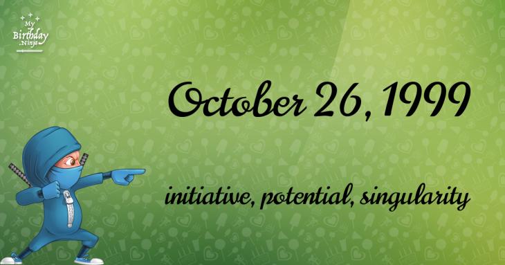 October 26, 1999 Birthday Ninja