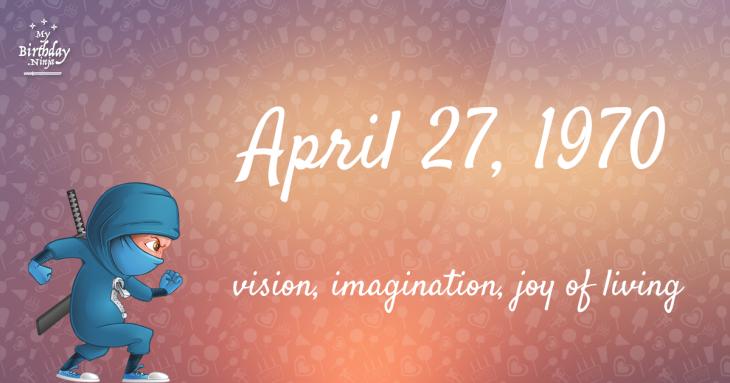 April 27, 1970 Birthday Ninja