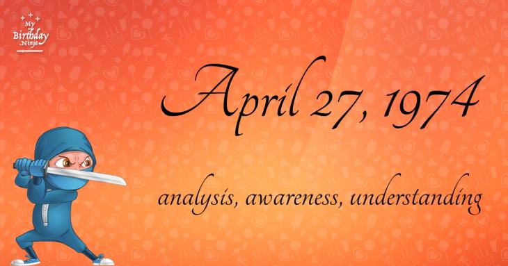 April 27, 1974 Birthday Ninja