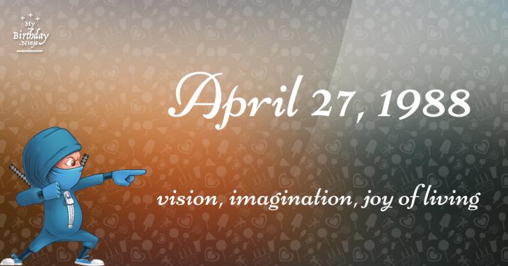 April 27, 1988 Birthday Ninja