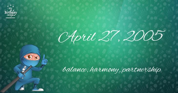 April 27, 2005 Birthday Ninja
