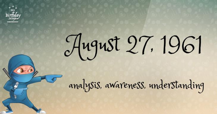 August 27, 1961 Birthday Ninja