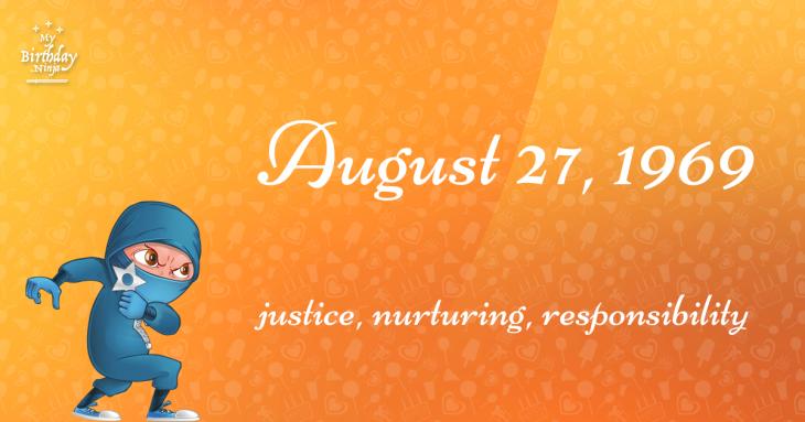 August 27, 1969 Birthday Ninja