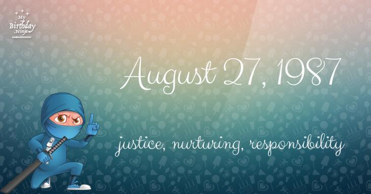 August 27, 1987 Birthday Ninja