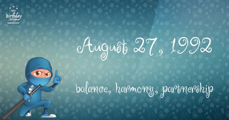 August 27, 1992 Birthday Ninja