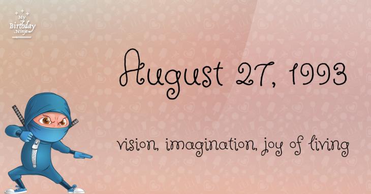 August 27, 1993 Birthday Ninja