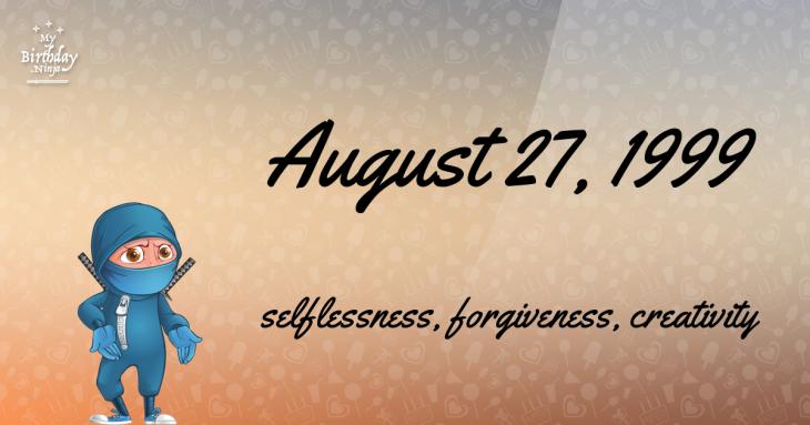 August 27, 1999 Birthday Ninja