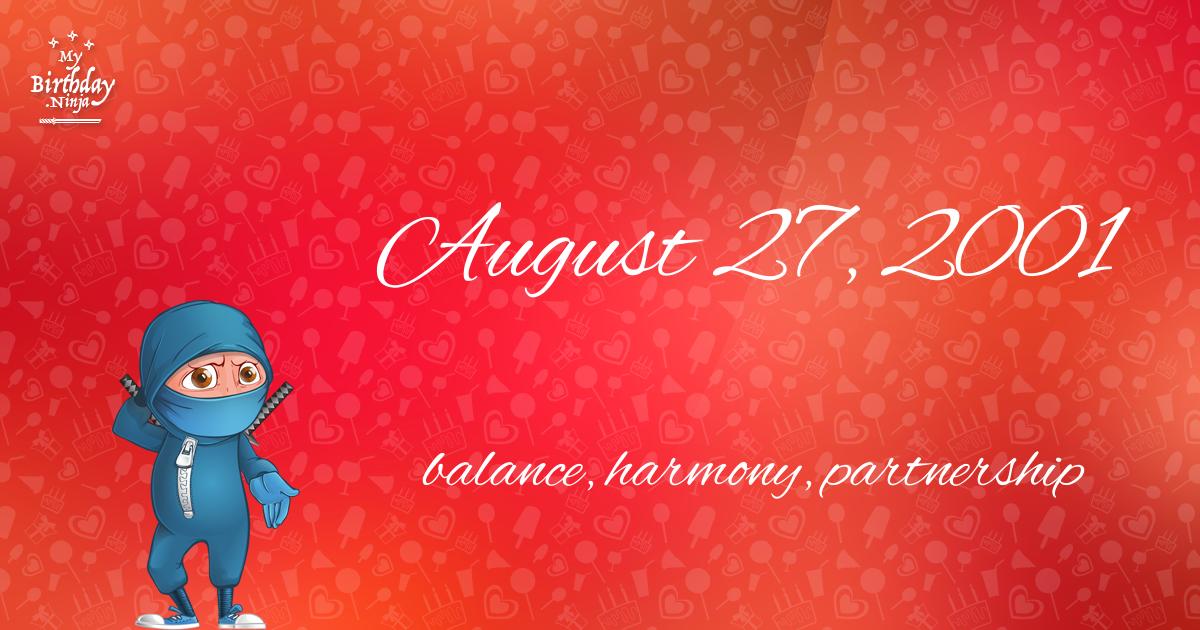 August 27, 2001 Birthday Ninja Poster