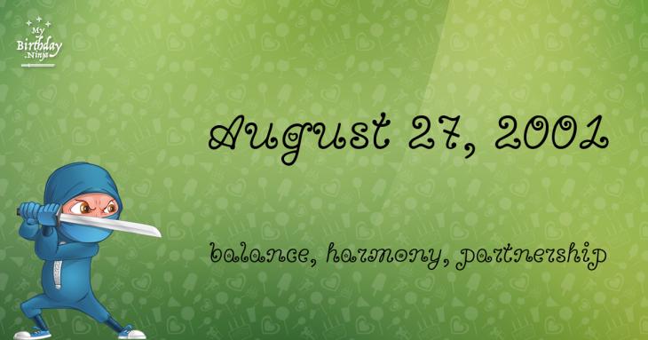 August 27, 2001 Birthday Ninja