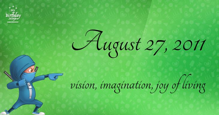 August 27, 2011 Birthday Ninja