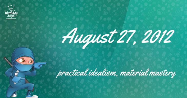 August 27, 2012 Birthday Ninja
