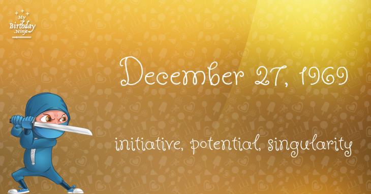 December 27, 1969 Birthday Ninja