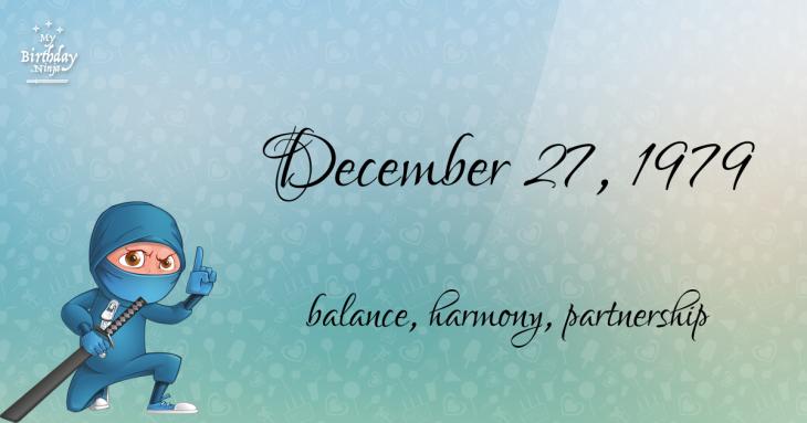 December 27, 1979 Birthday Ninja