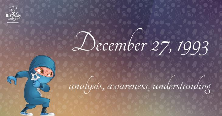 December 27, 1993 Birthday Ninja