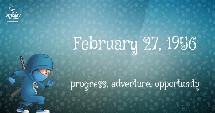 February 27, 1956 Birthday Ninja