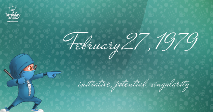 February 27, 1979 Birthday Ninja