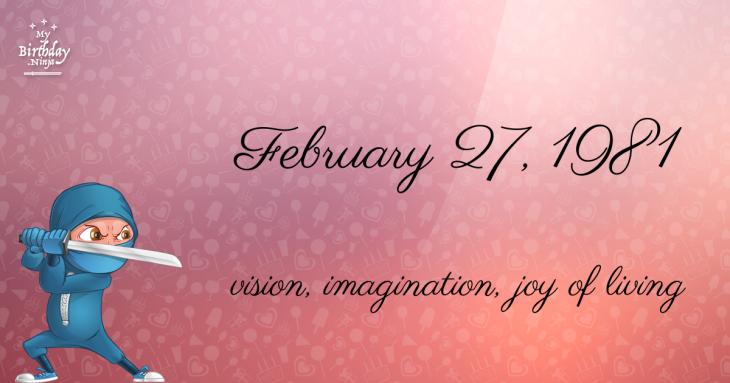 February 27, 1981 Birthday Ninja