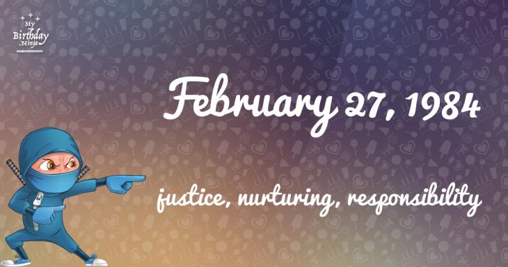 February 27, 1984 Birthday Ninja