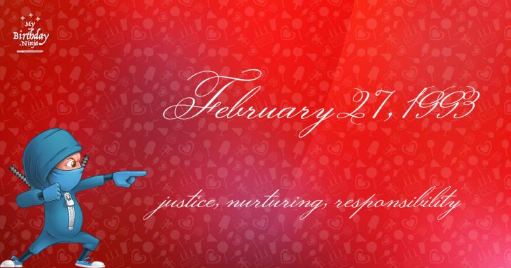 February 27, 1993 Birthday Ninja