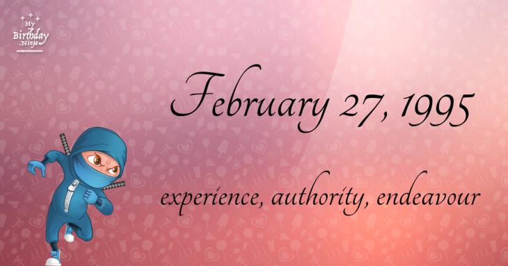 February 27, 1995 Birthday Ninja