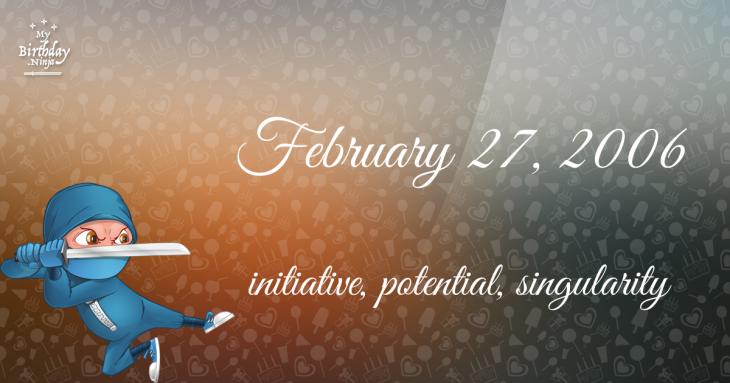 February 27, 2006 Birthday Ninja