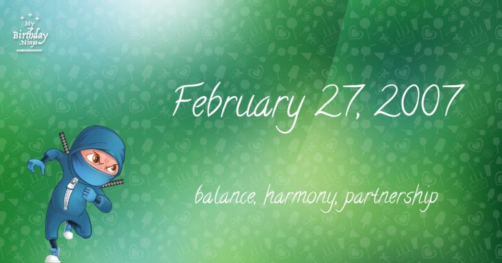 February 27, 2007 Birthday Ninja