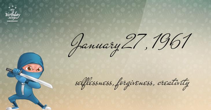 January 27, 1961 Birthday Ninja