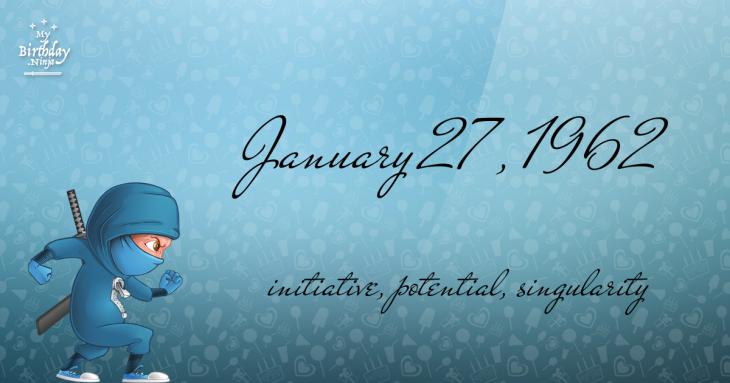 January 27, 1962 Birthday Ninja