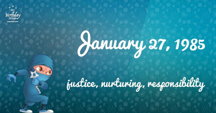 January 27, 1985 Birthday Ninja