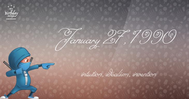 January 27, 1990 Birthday Ninja