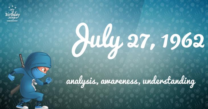 July 27, 1962 Birthday Ninja