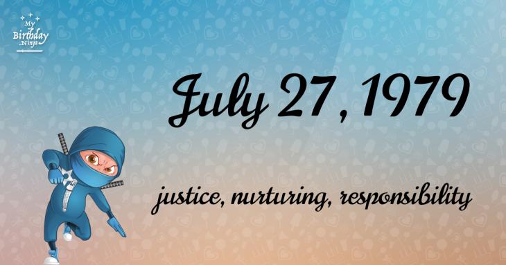 July 27, 1979 Birthday Ninja