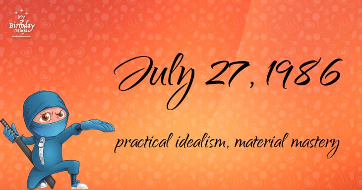 July 27, 1986 Birthday Ninja