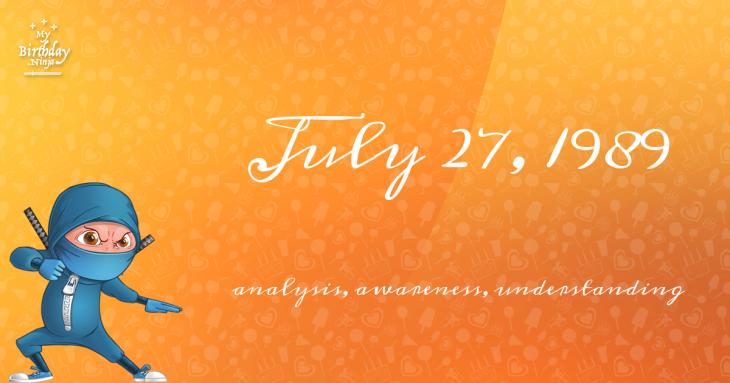 July 27, 1989 Birthday Ninja