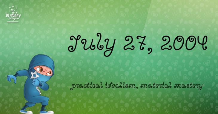 July 27, 2004 Birthday Ninja