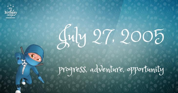 July 27, 2005 Birthday Ninja