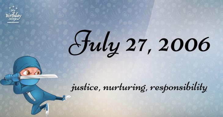 July 27, 2006 Birthday Ninja