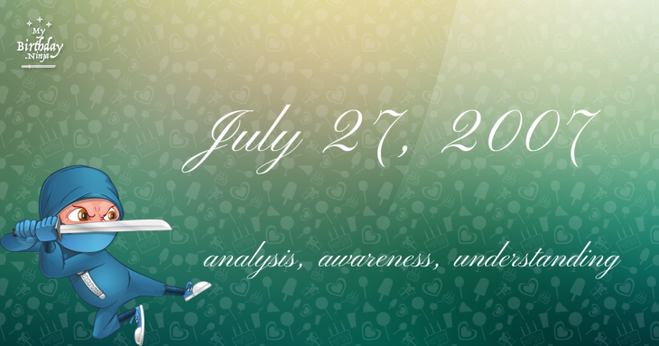 July 27, 2007 Birthday Ninja